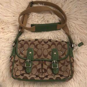 Coach signature crossbody purse/bag